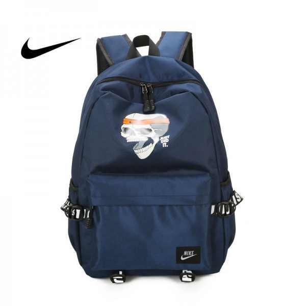 骷髏頭新款 Nike 雙肩包 後背包 時尚 街頭風 運動包 流蘇 藍色