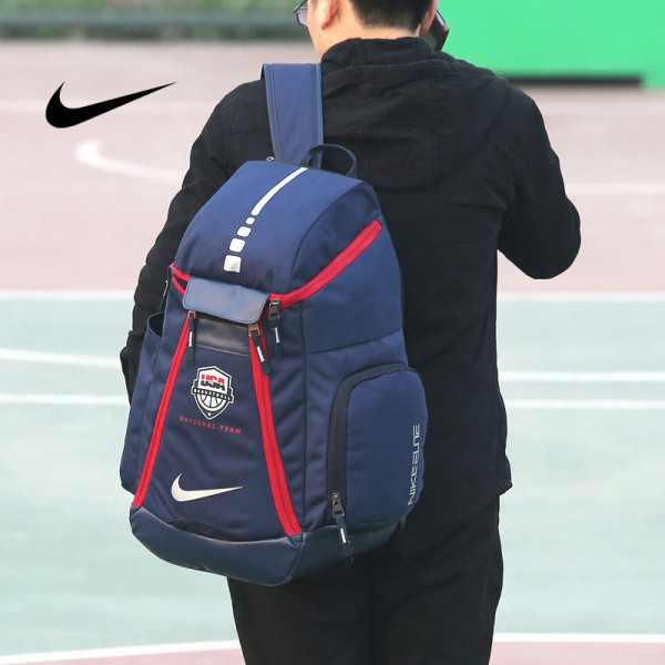 Nike 球星款 KD大號 帆布 雙肩包 深藍 後背包 時尚 百搭  高54*下寬30*厚23