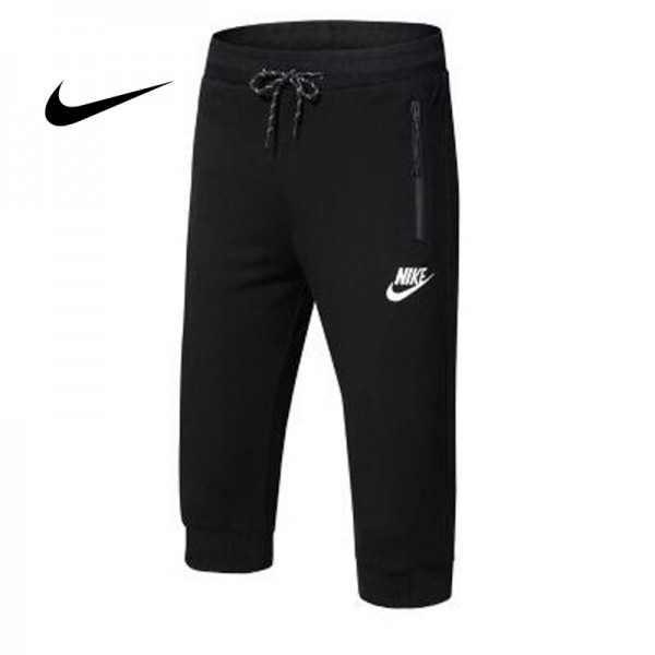 Nike 經典 男款 束口束腳褲 七分褲 運動短褲 黑色 休閒百搭