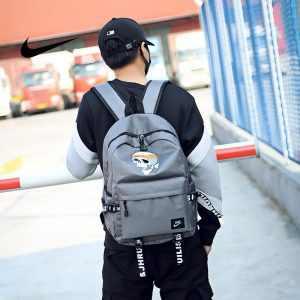 6a81d1cde4124550 300x300 - 骷髏頭新款 Nike 雙肩包 時尚 街頭風 運動包 流蘇 後背包 灰色 學生