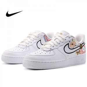 6b3170ad1d60206e 300x300 - Nike Air Force 1 空軍 板鞋 煙花 牡丹 情侶款 白色 休閒運動鞋 時尚 百搭 AO9381-100