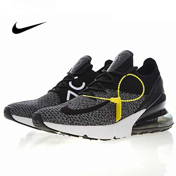 Nike Air 270 Flyknit 飛織 氣墊 慢跑鞋 黑灰白 透氣 時尚 百搭AO1023-001