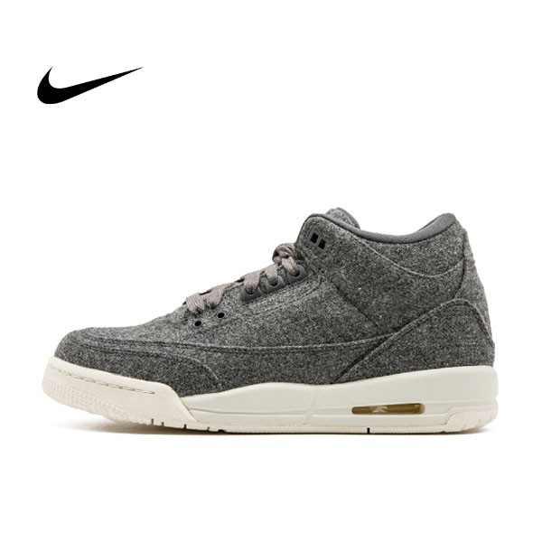 Air Jordan 3 Retro Wool BG  灰色 羊毛 奶油底 女鞋 861427 004