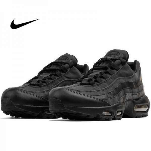Nike Air Max 95 復古氣墊慢跑鞋 黑金 男款 時尚百搭 924478-003