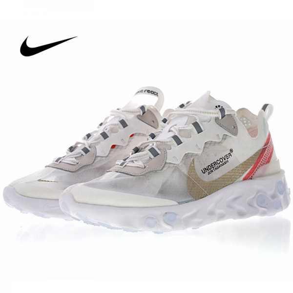 UNDERCOVER x Nike Upcoming React Element 87 半透明 前衛 慢跑鞋 白紅 休閒 時尚 AQ1813-345