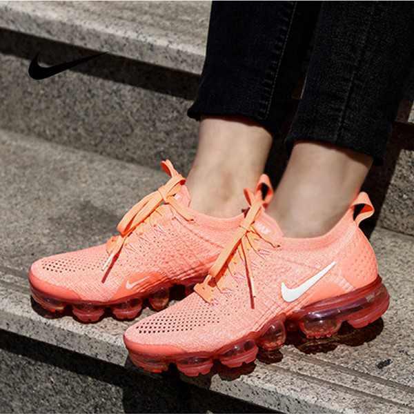 Nike Air VaporMax Flyknit 2.0 W 二代 橘粉 白勾 女款 大氣墊 飛線慢跑鞋 休閒百搭