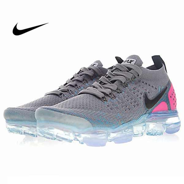 Nike Air VaporMax Flyknit 2.0 W 二代 大氣墊 灰粉藍 女款 慢跑鞋 休閒 百搭 942843-004