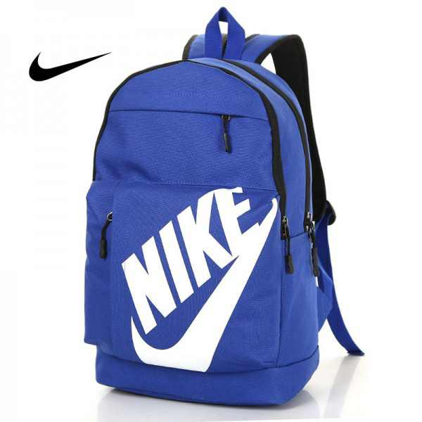 NIKE 大LOGO 雙肩包 情侶後背包 學生書包 旅行包 潮流包 藍色  45*2-*15