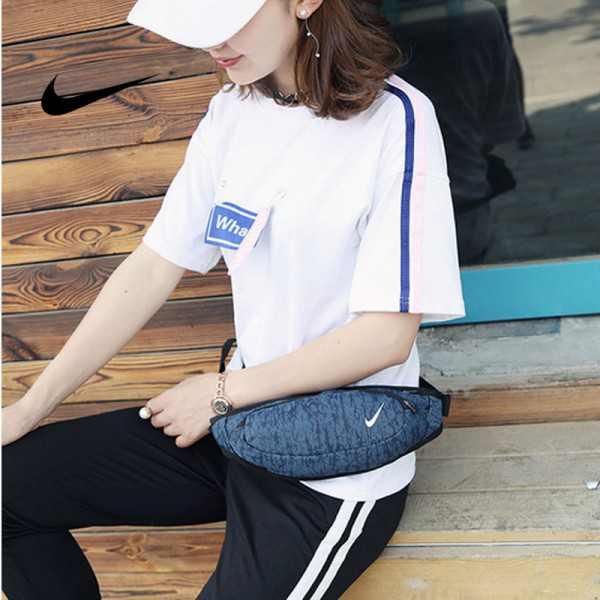 Nike 腰包 騎行包 零錢包 胸包 斜挎包 藍色 時尚百搭 NK-1641
