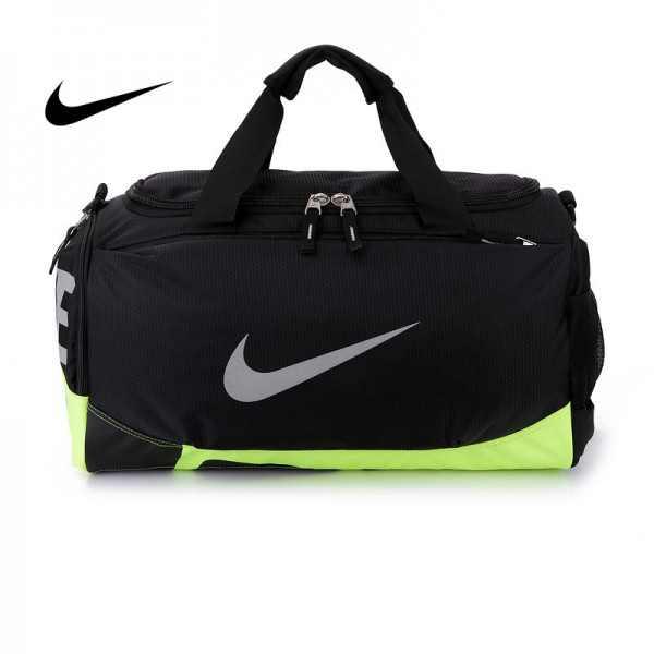 Nike 手提包 旅行包 斜挎包 大容量 健身包 黑綠 水桶包 寬52*高29*厚25