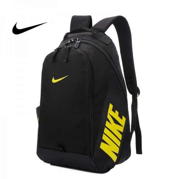 Nike 雙肩背包 帆布包 黑黃 後背包 時尚 百搭 NK-0151 寬36*高50*厚15