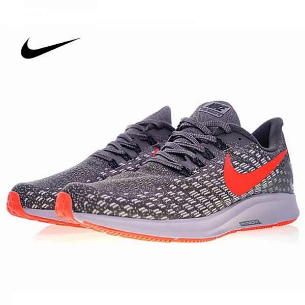 Nike Air Zoom Pegasus 35 登月 男鞋 新款 網面 灰白橙 透氣慢跑鞋 時尚百搭 942851-006