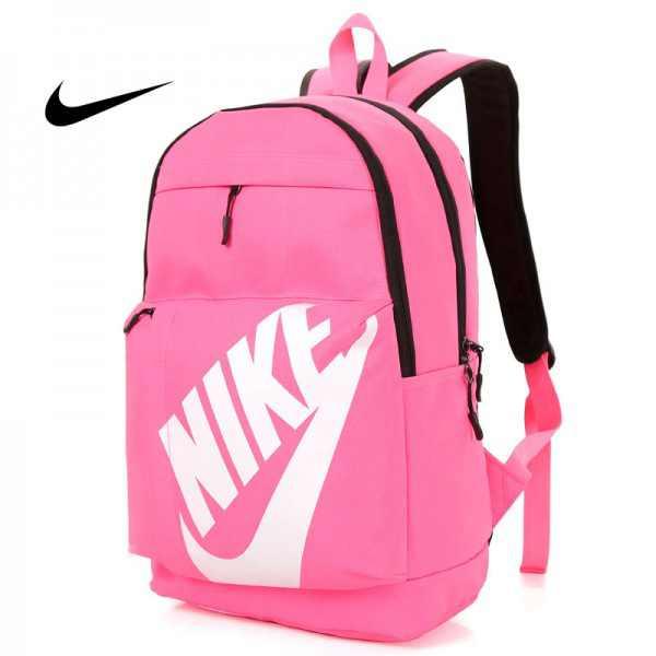 NIKE 大LOGO 雙肩包 情侶後背包 學生書包 旅行包 潮流包 粉色  45*2-*15