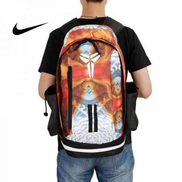 Nike kobe 夜光版 雙肩包 籃球包 學生書包 帆布 黃色 寬30*高47*厚22