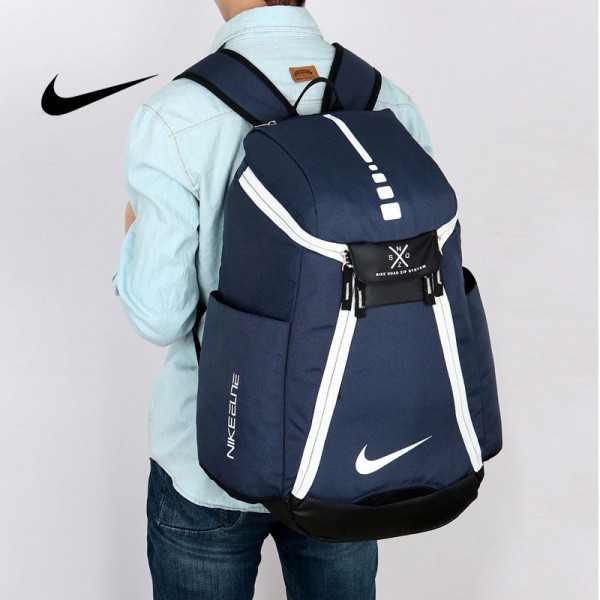 Nike 情侶款 雙肩包 大容量運動包 旅行包 鞋袋包 籃球包 深藍 寬38*高50*厚20