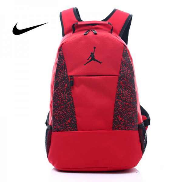Jordan喬丹 雙肩包 書包 帆布 電腦 紅色後背包 時尚 百搭