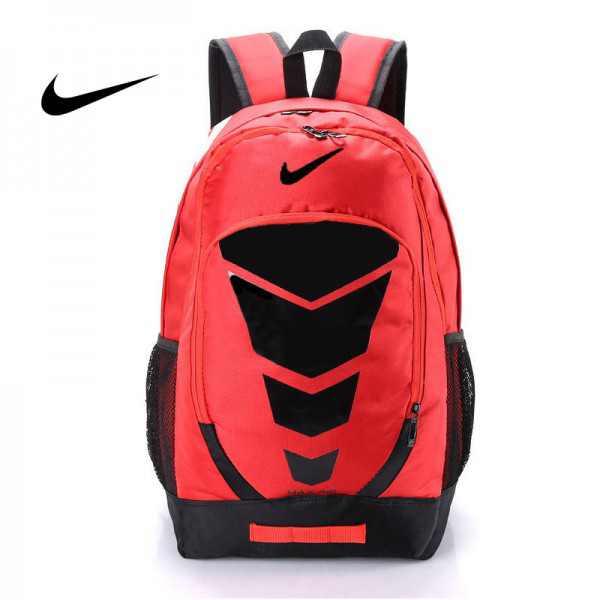 Max Air Nike 雙肩包 學生書包 帆布電腦後背包 旅行包 紅色 NK-0431