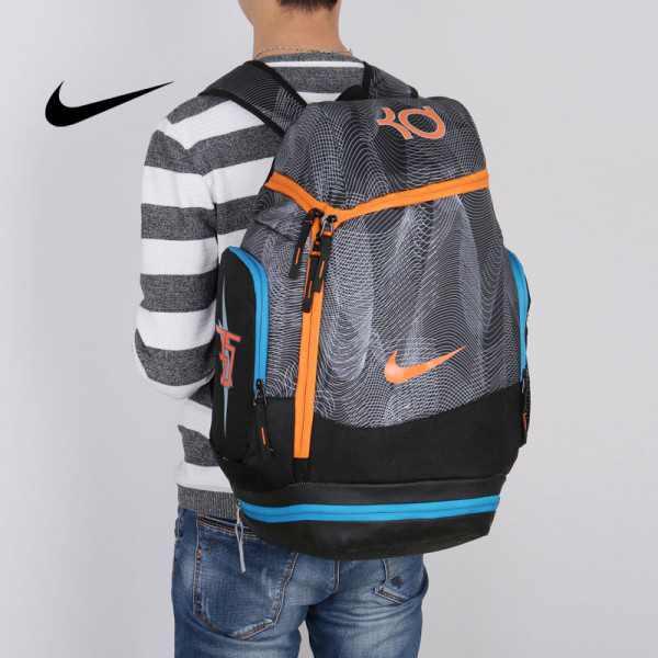 NIKE NBA35號 KD 大容量 雙肩包 水波紋 曲線 健身 籃球包 實用 黑色 寬32*高55*厚20