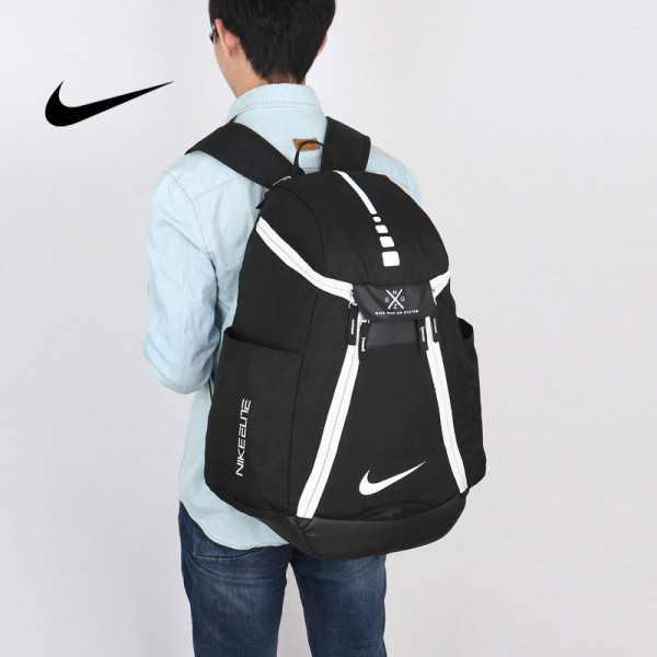 Nike 情侶款 雙肩包 大容量運動包 旅行包 鞋袋包 籃球包 經典 黑白 寬38*高50*厚20