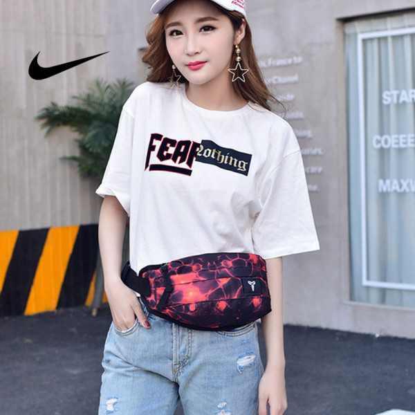 Nike Kobe腰包 騎行包 零錢包 胸包 斜挎包 紅閃電 時尚百搭 NK-1641