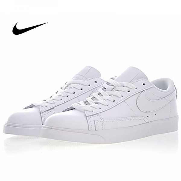 Nike Blazer Low Premium 開拓者 百搭 小白板鞋 全白 真皮 情侶款 AA3961-104