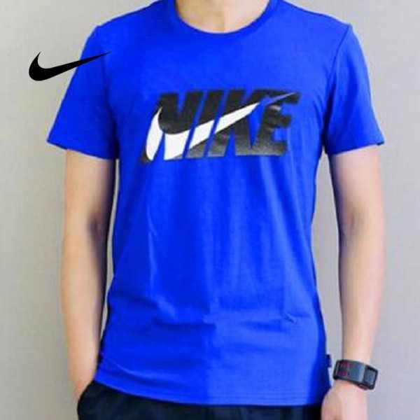 NIKE 夏季新款 基礎 純棉T恤 男款 藍色 時尚百搭 經典