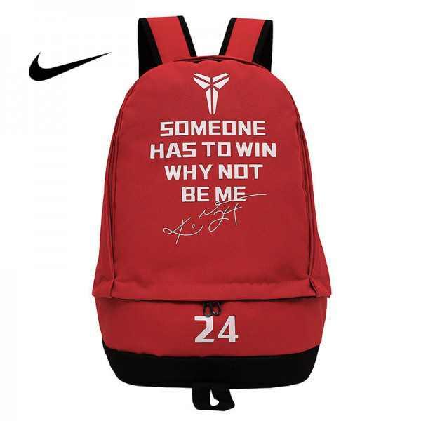 科比後背包 Nike 雙肩包 大容量 旅行包 學生書包 NBA球星款 紅色 50*32*19