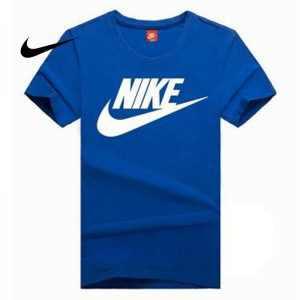 9743ede66d1b9e56 300x300 - NIKE 情侶款 夏季新款 基礎 純棉T恤 藍色 白色Logo 吸汗 透氣 時尚百搭