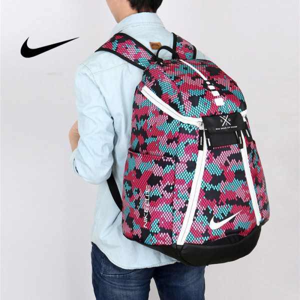 Nike 情侶款 雙肩包 大容量運動包 旅行包 鞋袋包 籃球包 粉紅色 時尚百搭 寬38*高50*厚20