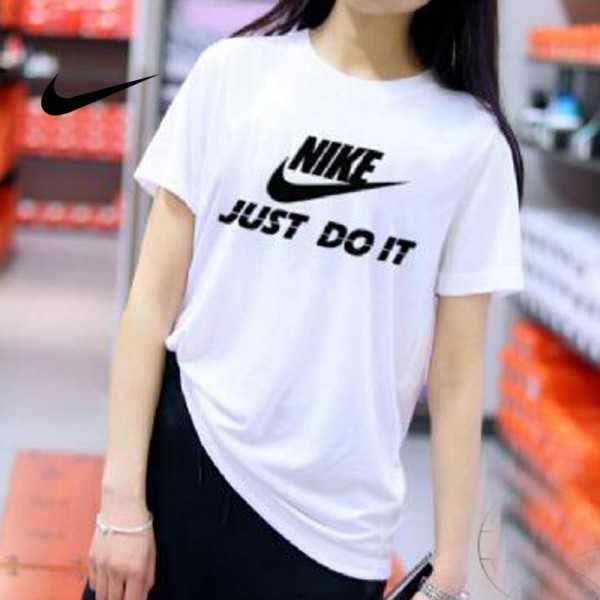 NIKE 情侶款 夏季新款 基礎 純棉T恤 白黑 經典 百搭