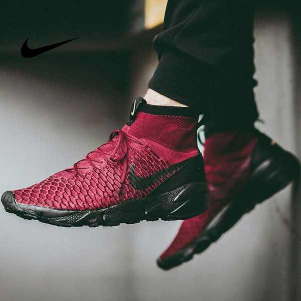 Nike Air Footscape Magista Flyknit 黑紅小呂布 慢跑鞋 男款 飛線 時尚百搭830600-600