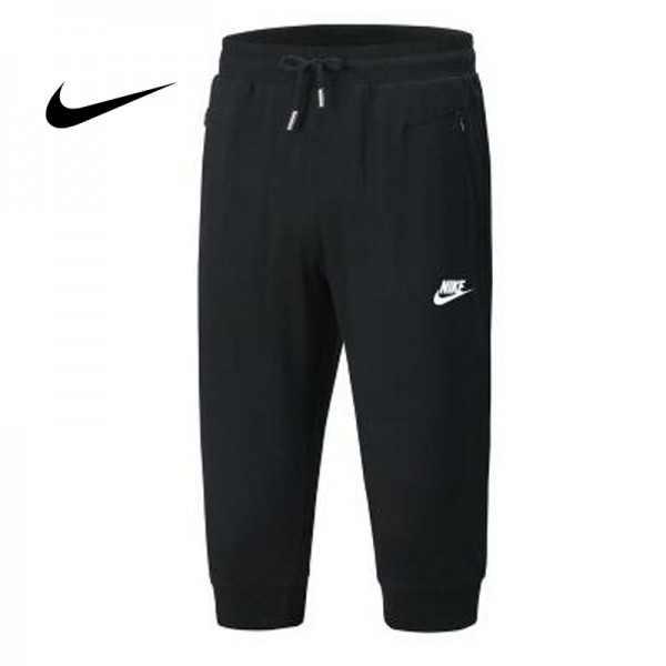 Nike 經典 男款 束口 七分褲 黑色 時尚 百搭 運動短褲