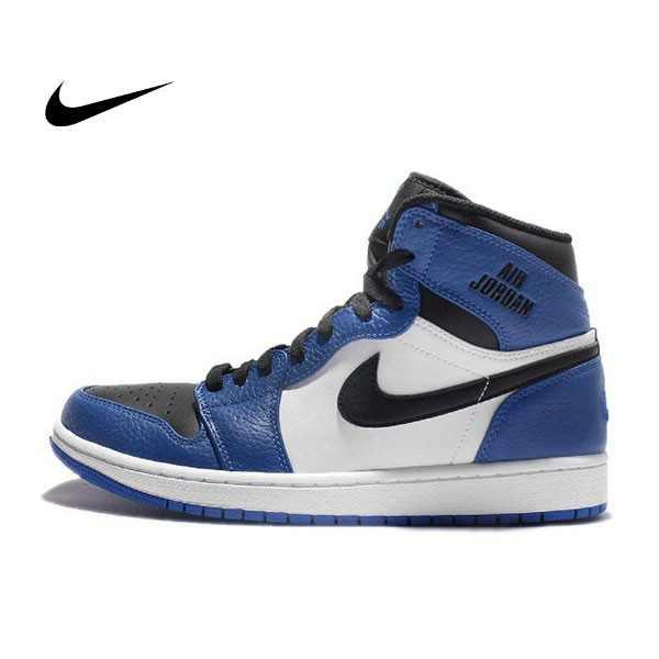 NIKE AIR JORDAN 1 RETRO HIGH AJ1 藍白黑 皮革 男鞋 332550-400 - 耐吉官方網-nike 官網