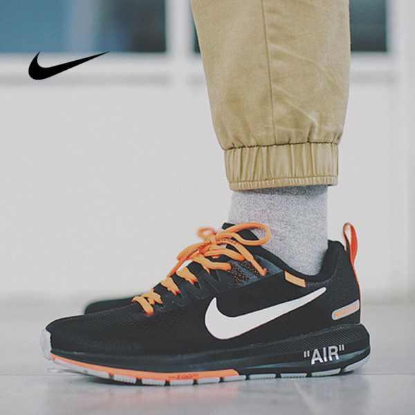 Virgil Abloh x Nike Air Zoom Structure 21 登月21代 黑橘白 男款 慢跑鞋 時尚 百搭 907324-008