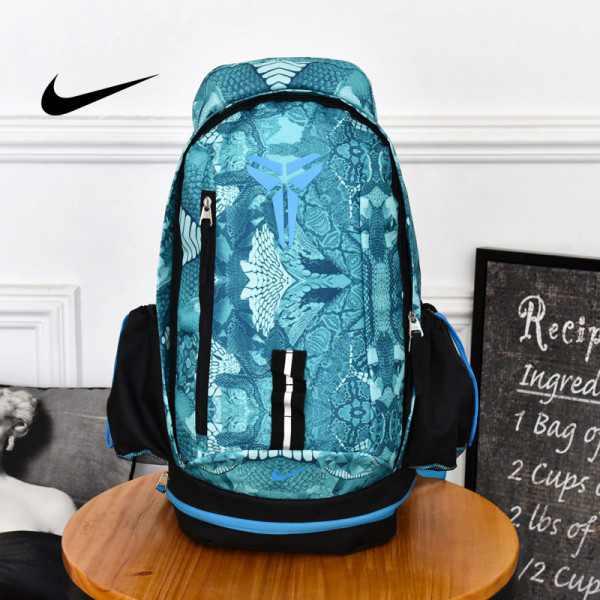Nike Kobe 籃球包 大容量 雙肩包 旅行包 學生書包 鞋袋包 淺藍 防水 49*27*19