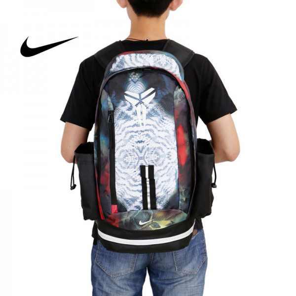 Nike kobe 夜光版 雙肩包 籃球包 學生書包 帆布 白色 時尚百搭 寬30*高47*厚22