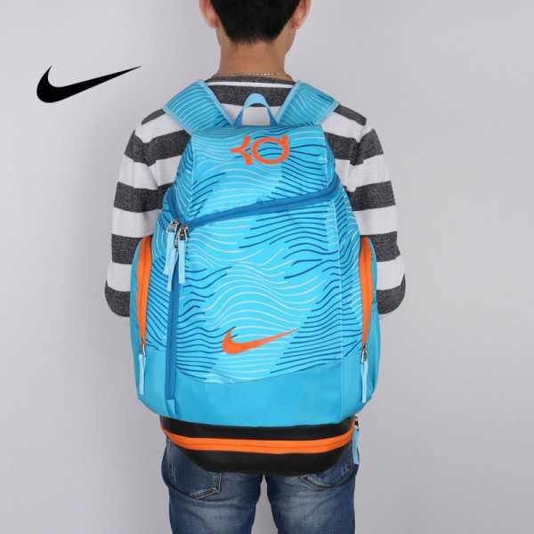 NIKE NBA35號 KD 大容量 雙肩包 水波紋 曲線 健身 籃球包 實用 淺藍 寬32*高55*厚20