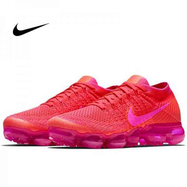 Nike Air VaporMax Flyknit 蒸汽 大氣墊 慢跑鞋 熒光粉色 女款 休閒 百搭 849557-604