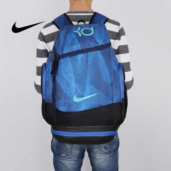 NIKE NBA35號 KD 大容量 雙肩包 水波紋 曲線 健身 籃球包 實用 深藍 寬32*高55*厚20
