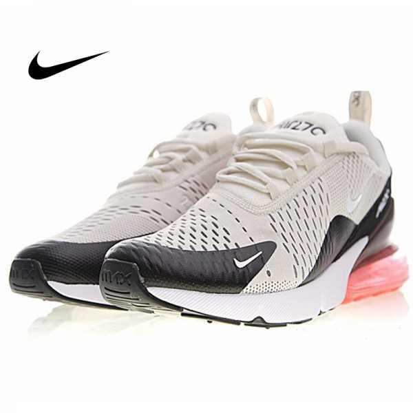 Nike Air Max 270系列 後跟半掌氣墊 慢跑鞋 米白 男款 休閒 百搭 AH8050-003