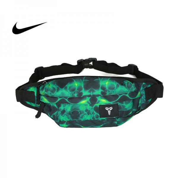Nike kobe腰包 騎行包 零錢包 胸包 斜挎包 綠色 時尚百搭 NK-1641