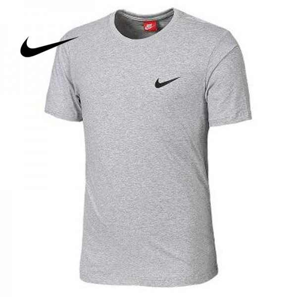 NIKE 夏季新款 基礎 純棉T恤 男款 灰色 運動 吸汗 透氣 百搭