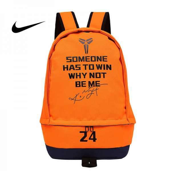 科比後背包 Nike 雙肩包 大容量 旅行包 學生書包 橙色 NBA球星款 50*32*19