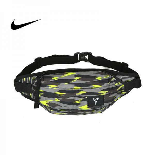 Nike Kobe腰包 騎行包 零錢包 胸包 斜挎包 灰綠色 時尚百搭NK-1641