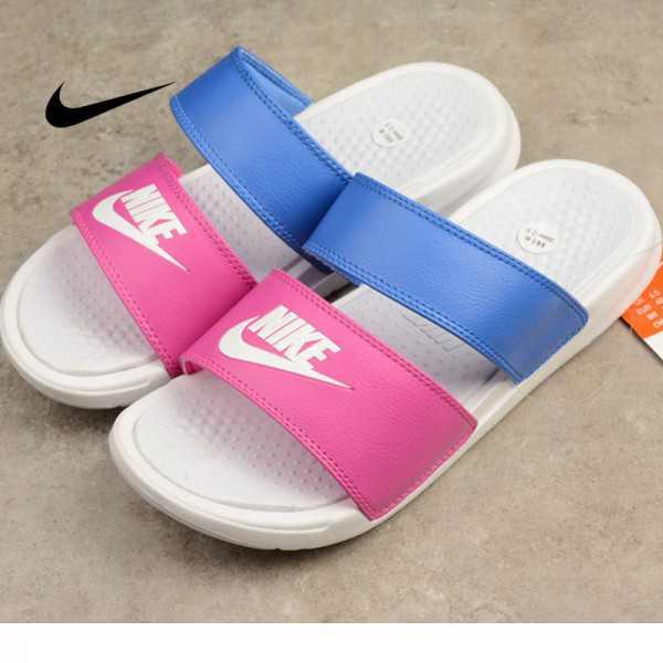 Nike 雙帶拖鞋 BENASSI DUO ULTRA 藍粉 女款 防滑 防水 時尚 百搭 819717-603