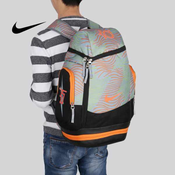 NIKE NBA35號 KD 大容量 雙肩包 水波紋 曲線 健身 籃球包 實用 綠橙色 寬32*高55*厚20