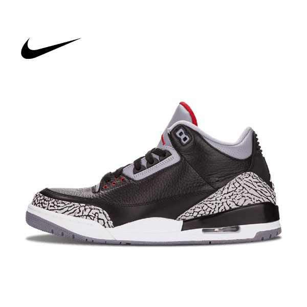Air Jordan 3 Retro  Black Cement 爆裂 黑水泥 男鞋 136064 010