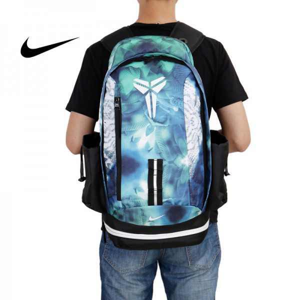 Nike kobe 夜光版 雙肩包 籃球包 學生 書包 帆布 藍色 寬30*高47*厚22