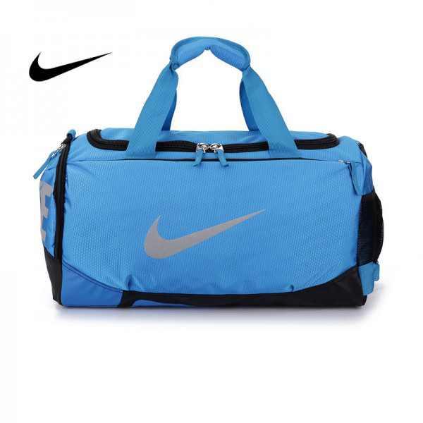Nike 手提包 旅行包 斜挎包 大容量 健身包 藍色 圓筒包 寬52*高29*厚25