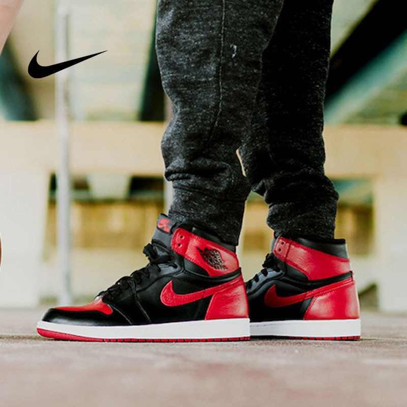 Air Jordan 1 Retro High OG BG 黑紅 皮面 經典 男女鞋 575441 001 - 耐吉官方網-nike 官網
